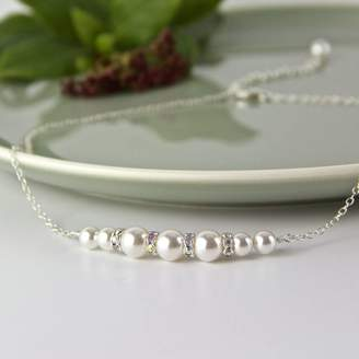 Swarovski Gama Weddings Graduated Pearl Necklace Made With Pearls