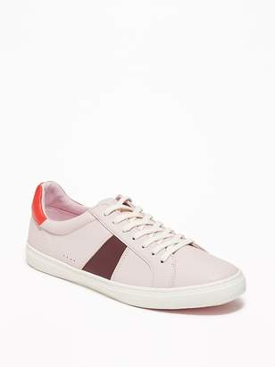 1d33ebf06a6 Old Navy Faux-Leather Classic Sneakers for Women