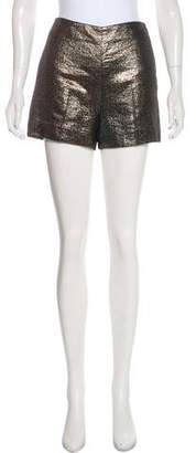 Diane von Furstenberg Metallic Mini Shorts