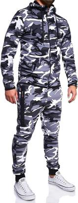 BEHYPE Men's Tracksuit Bottoms Jogging Pants + Sweatshirt 7039 (red-back,)