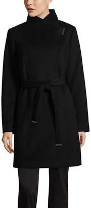 Liz Claiborne Belted Overcoat