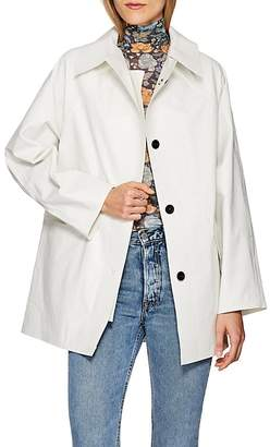 KASSL Women's Laminated Cotton-Blend Trench Coat