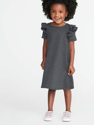 Old Navy Ruffled-Shoulder A-Line Tee Dress for Toddler Girls