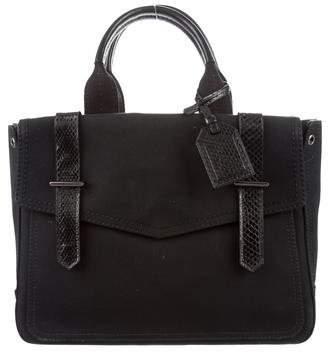 Reed Krakoff Snakeskin-Trimmed Boxer Bag