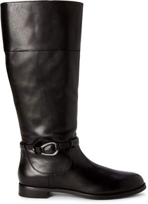 Lauren Ralph Lauren Black Harlee Leather Tall Boots