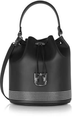 Furla Corona S Drawstring Studded Bucket Bag
