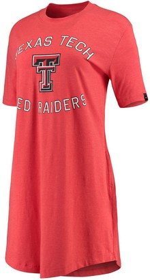 Under Armour Unbranded Women's Red Texas Tech Red Raiders Charged Cotton Tri-Blend Performance T-Shirt Dress