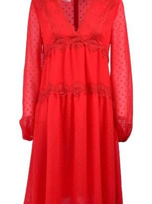 Giamba Plumetti Midi Dress