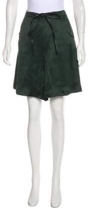Giorgio Armani Silk High-Rise Shorts