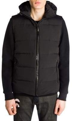 Fendi Karl Fur-Trim Hooded Puffer Vest
