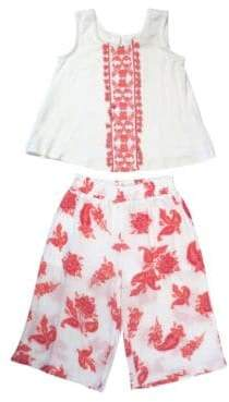 Jessica Simpson Baby Girl's Two-Piece Top and Pants Set