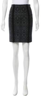 Alaia Patterned Mini Skirt