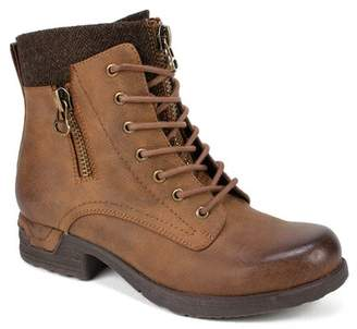 White Mountain Footwear Raynes Lace-Up Faux Leather Ankle Boot