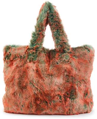 Dries Van Noten Faux-fur tote bag