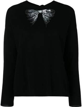 Blugirl sequinned bow tied jumper