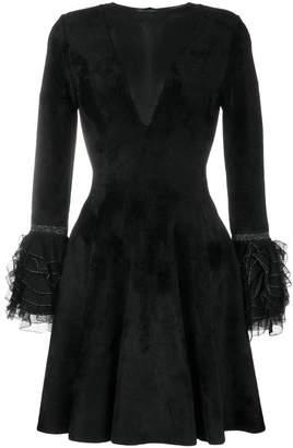 Valenti Antonino ruffled cuff flared dress