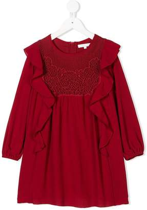 Chloé Kids macrame panel dress