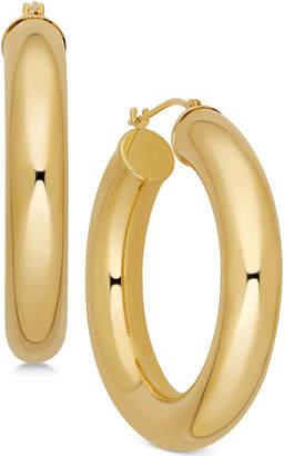 Macy's Polished Chunky Tube Hoop Earrings in 14k Gold