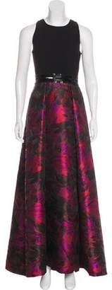 Carmen Marc Valvo Patterned Evening Dress