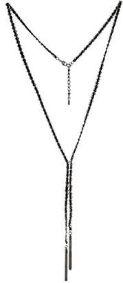 BCBGeneration BCBG Generation 12k Black Tassel Y-Shaped Necklace
