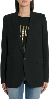 Saint Laurent Tube Single-breasted Blazer
