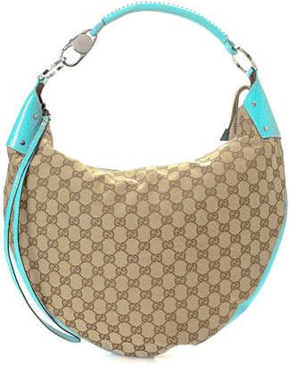 Gucci Canvas Hobo Shoulder Bag - Vintage