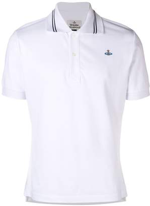 Vivienne Westwood striped collar polo shirt