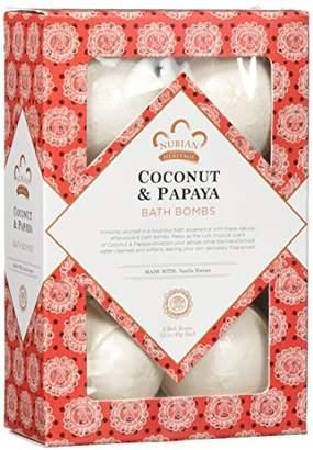 Nubian Heritage Coconut & Papaya Bubble Bath Bomb