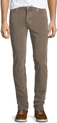 Jacob Cohen Five-Pocket Stretch-Corduroy Pants, Khaki