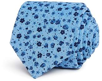 Bloomingdale's The Men's Store at Ditsy Floral Skinny Tie - 100% Exclusive