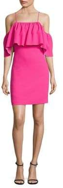 Trina Turk Aloha Crepe Cold-Shoulder Dress
