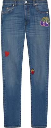 Gucci pantalone skinny denim