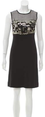 Christian Dior Embellished Wool-Blend Dress
