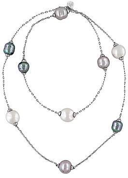 Majorica Women's 12-15MM Multi-Color Baroque Pearl and Sterling Silver Necklace