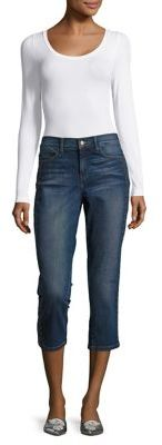 NYDJ Embroidered Crop Jeans $88 thestylecure.com
