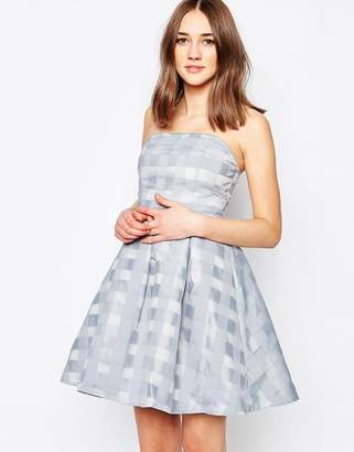 Glamorous Bandeau Dress In Check