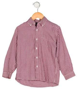Papo d'Anjo Boys' Collared Gingham Shirt