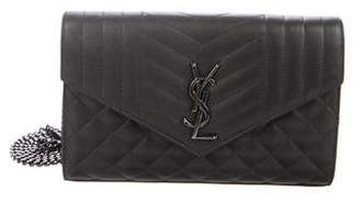 Saint Laurent Quilted Envelope Crossbody Bag