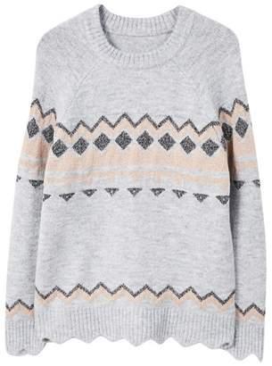 MANGO Grey Rhombus Design 'Lucille' Sweater