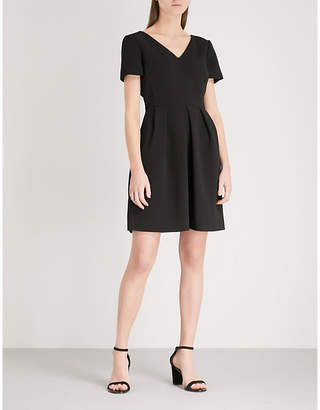 Claudie Pierlot Crossover-back crepe dress