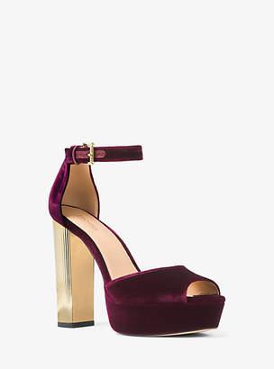 Michael Kors Paloma Velvet Platform Sandal