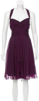 Vera Wang Lavender Label Silk Ruched Dress $145 thestylecure.com