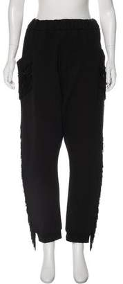 Baja East Fringe-Trimmed Skinny Sweatpants
