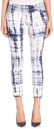 J Brand Mid-Rise Tie-Dye Capri Jeans
