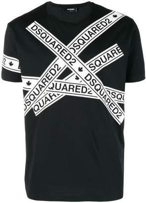 DSQUARED2 logo strip T-shirt