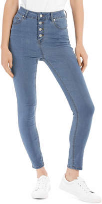 Miss Shop Riley High Waisted Skinny Jean Button Front