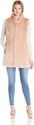 Eliza J Women's Faux Fur Vest