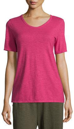 Eileen Fisher Hemp/Cotton Twist V-Neck Tee $98 thestylecure.com