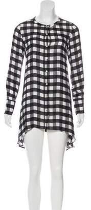 Marissa Webb Silk Check Dress
