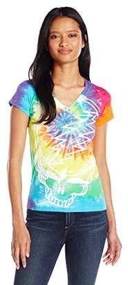 Liquid Blue Women's Grateful Dead Steal Your Face Rainbow Graphic Tee